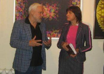 Dailininko Tautvydo Davainio parodą pristatė biliotekininkė Judita Skačkauskienė.