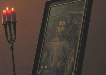 Svėdasų kilusio dailininko J. Rimšos paveikslai antrą kartą eksponuojami Anykščiuose. Autorės nuotr. ir iš bernardinai.lt