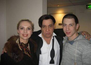 Lietuviai aktoriai  Marius Repšys ir Dalia Michelevičiūtė su  Stevenu van Zandtu(centre).Nuotrauka iš D.Michelevičiūtės albumo.