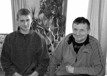 Du Jonai Matulevičiai, du ūkininkai  - tėvas ir sūnus.