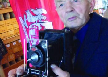 """Vladas Žvirblis fotografavo puikiu vokišku fotoaparatu """"Agfa""""."""
