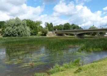 """Už beveik 75 tūkst. eurų Anykščių rajono savivaldybės administracijos Šventosios upės vagos šienavimui nusipirkta amfibija, net ir jos pardavėjų teigimu, yra skirta ,,lygiam vandeniui"""", o ne tokiai užžėlusiai, pieva virtusiai upei."""