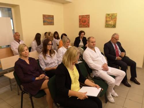 Didžioji dalis susitikime dalyvavusių medikų buvo tik klausytojai.