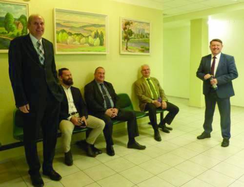 Liudininkais į ketvirtadienio teismo posėdį buvo pakviesta išskirtinai vyriška kompanija. Iš kairės: Audronius Gališanka, Donaldas Vaičiūnas, Artūras Juozas Lakačauskas, Dalis Vaiginas ir Alvydas Gervinskas.