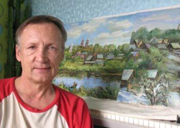 Alvydas Latėnas, kilęs iš netoli Šventosios, prie ežerų įsikūrusio Dusetų miestelio, sėkmingai vaizduoja vandenis - ežerus ir upes.Autoriaus nuotr.
