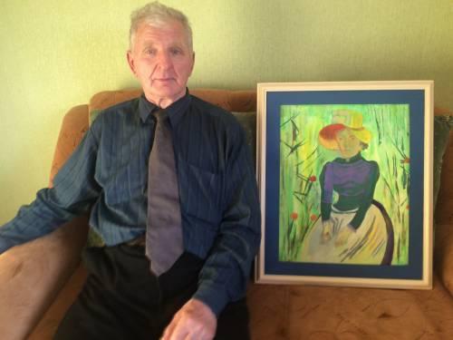 Buvęs Svėdasų agronomas Kazimieras Tamošiūnas tebėra kupinas energijos ir kūrybinių sumanymų ir išėjęs į pensiją ėmėsi tapybos.