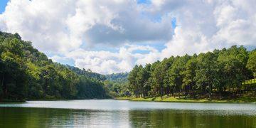 Pang-ung lake in Maehongson,Thailand.